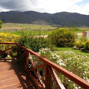 Deck con vista del cerro Napostá