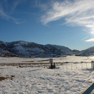 nevada en las sierras de la Comarca