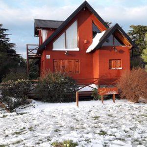 nieve en cabaña Ayutun Hue de Villa Ventana